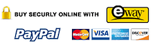 secure on line payment with paypal, eway, american express, mastercard, visa