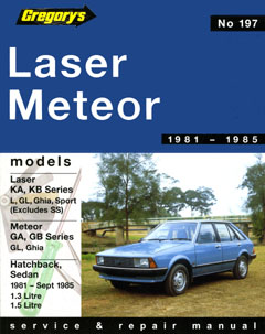 Ford Laser KA-KB / Meteor GA-GB (1981-1985) (Gregory's scientifi