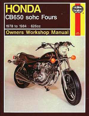 Honda CB650 Fours Owner's Workshop Manual (Motorcycle Manuals) b