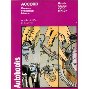 Honda Accord - CVCC 1976 - 77 Owners Workshop Manual