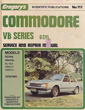 Commodore VB 1978-80 Service and Repair Manual GR117