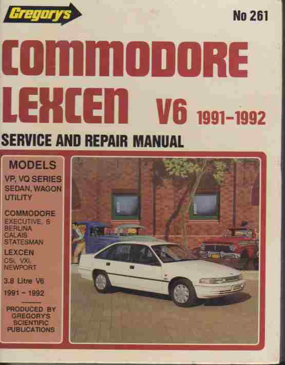 Commodore Statesman VP VQ series. Lexcen VP series six cylinder