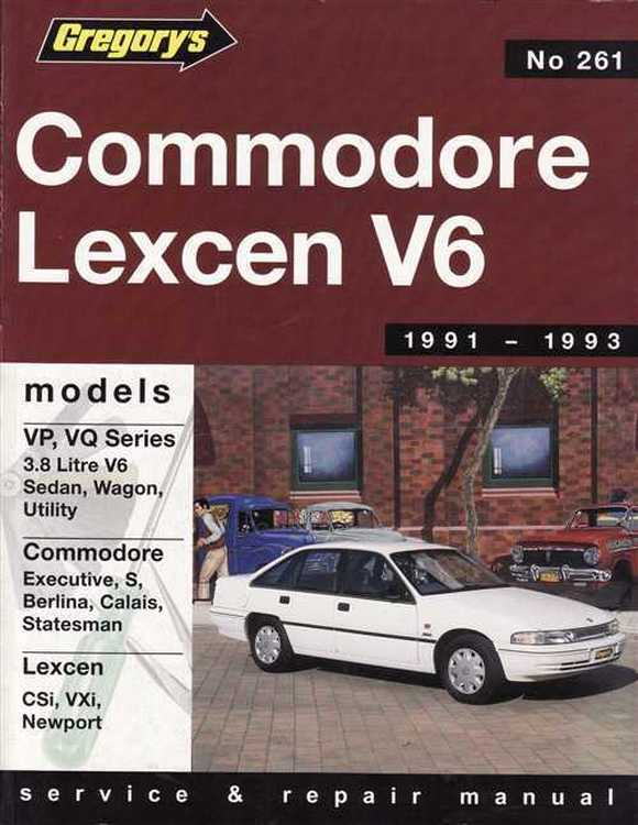 Holden Commodore and Toyota Lexcen 6cyl (1991-93) Repair Manual
