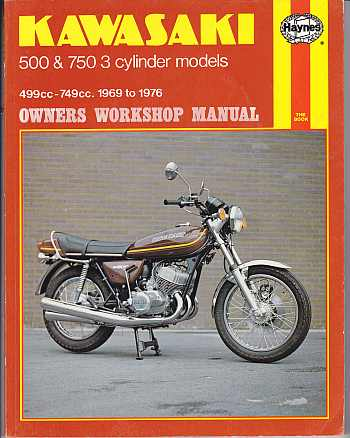 Kawasaki 500 And 750 3 Cylinder Models 1969 To 1976 Owner's Work