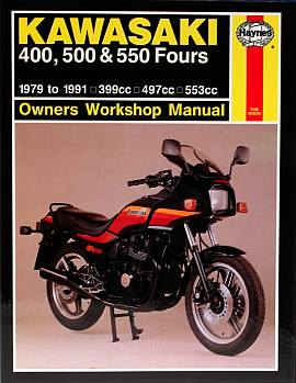 Kawasaki 400 500 and 550 Fours (79 - 91) Owners Workshop Manual - Click Image to Close