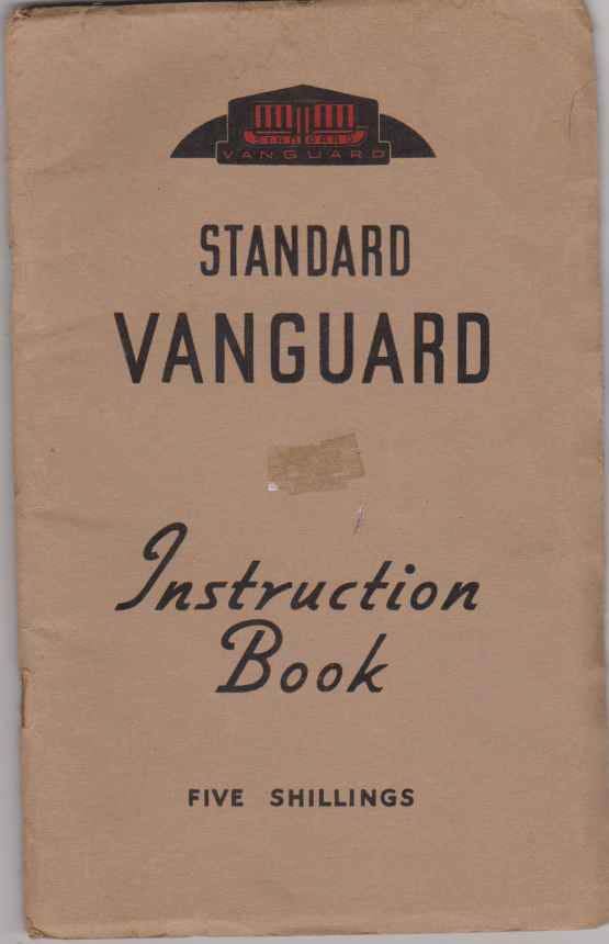1951 Standard Vanguard Saloon Instruction Book