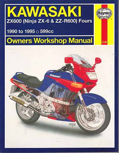 Kawasaki ZX600 (ZZ-R600 AND NINJA ZX-6) Fours 1990 - 1995 Owners