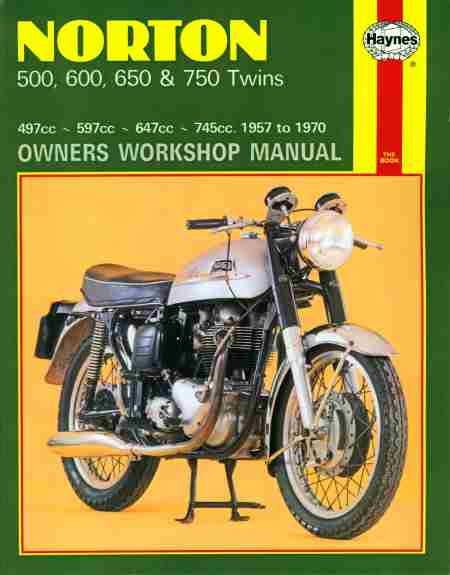 Norton 500, 600, 650 and 750 Twins (57 - 70) WSM 0187