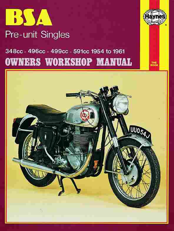 BSA Pre-unit Singles Owner's Workshop Manual 0326