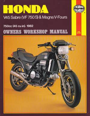 Honda V 45 VF750 1982 Owners Workshop Manual 820