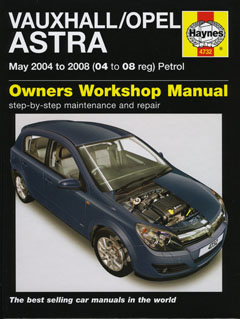 Vauxhall (Holden) Astra (AH) Petrol 2004-2008 Repair Manual 4732