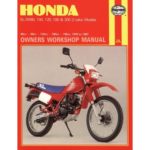 Honda Xl  Xr80 100 125 185 And 200 2 Valve Models 1978 Xr80 100 125 185 And