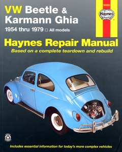 VW Beetle and Karmann Ghia (1954-79) Automotive Repair Manual (H