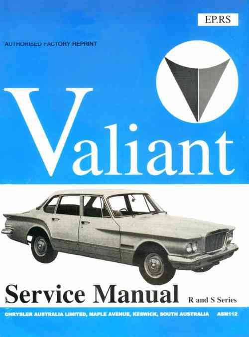 Chrysler Valiant R and S Series 1961-63 Workshop Manual
