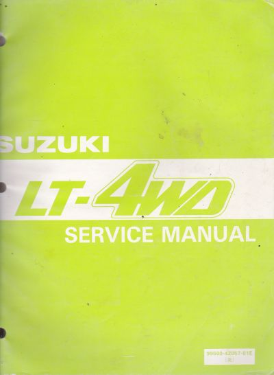 Suzuki LT 4WD (87-98) OEM Factory Owner Service Manual Book 99