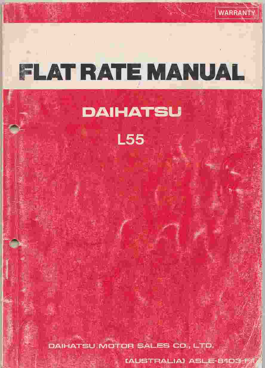 Daihatsu Handivan Model L55V Flat Rate Manual (TIMES GUIDE)
