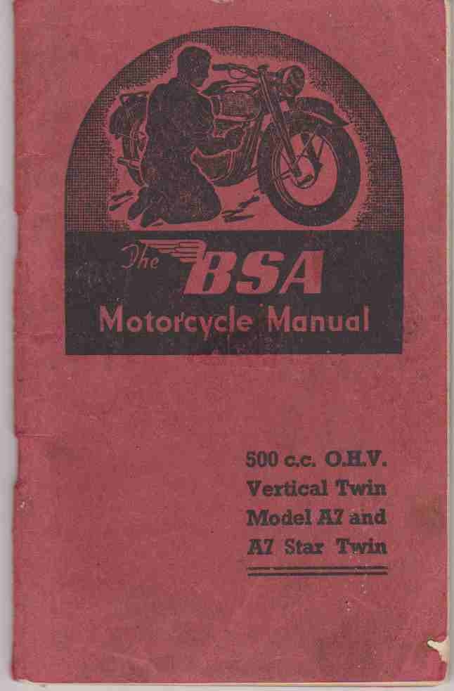 BSA 500 cc OHV Vertical Twin Models A7 And A7 Star Twin Motorcyc