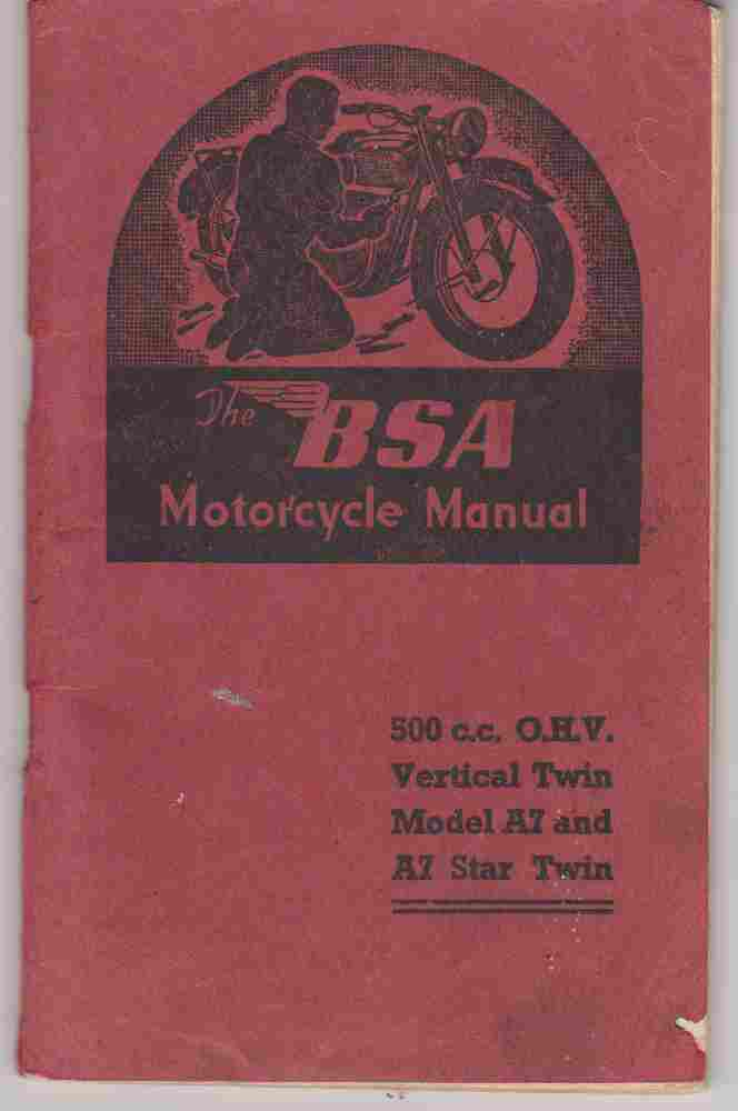 BSA Motorcycle Manual 500Cc A7 And A7 Star WSM