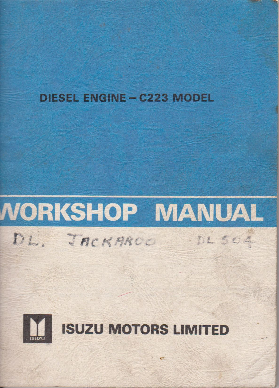 C223 DIESEL ENGINE ISUZU WORKSHOP MANUAL