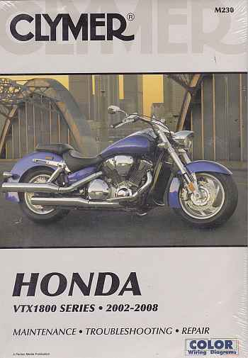 Honda VTX1800 Series 2002-2008 M230 A Clymer Manual