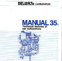 Dellorto Carburettor Manual 35i A Dellorto Publication