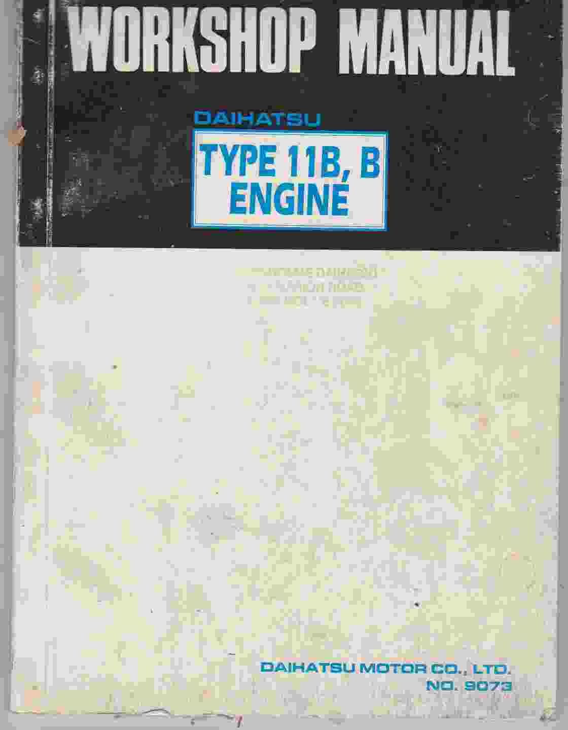 Daihatsu Type 11B B Engine Shop Manual