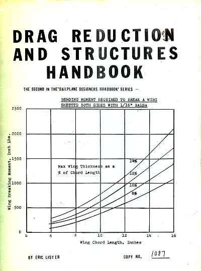 Drag Reduction And Structures Handbook by Eric Lister