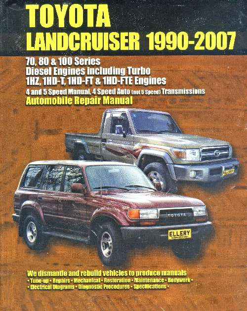 Toyota Land Cruiser Diesel 1990-2007 Repair Manual