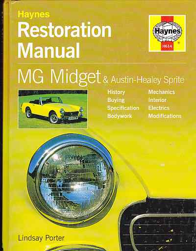 MG Midget, Austin Healey Sprite Restoration Manual H614