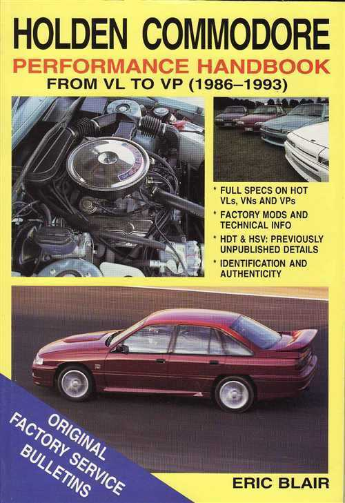 Holden Commodore Performance Handbook VL-VN