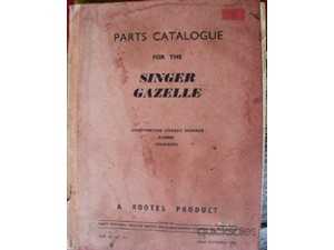 Singer Gazelle Parts Catalogue From Chassis No A7600001 Onwards - Click Image to Close