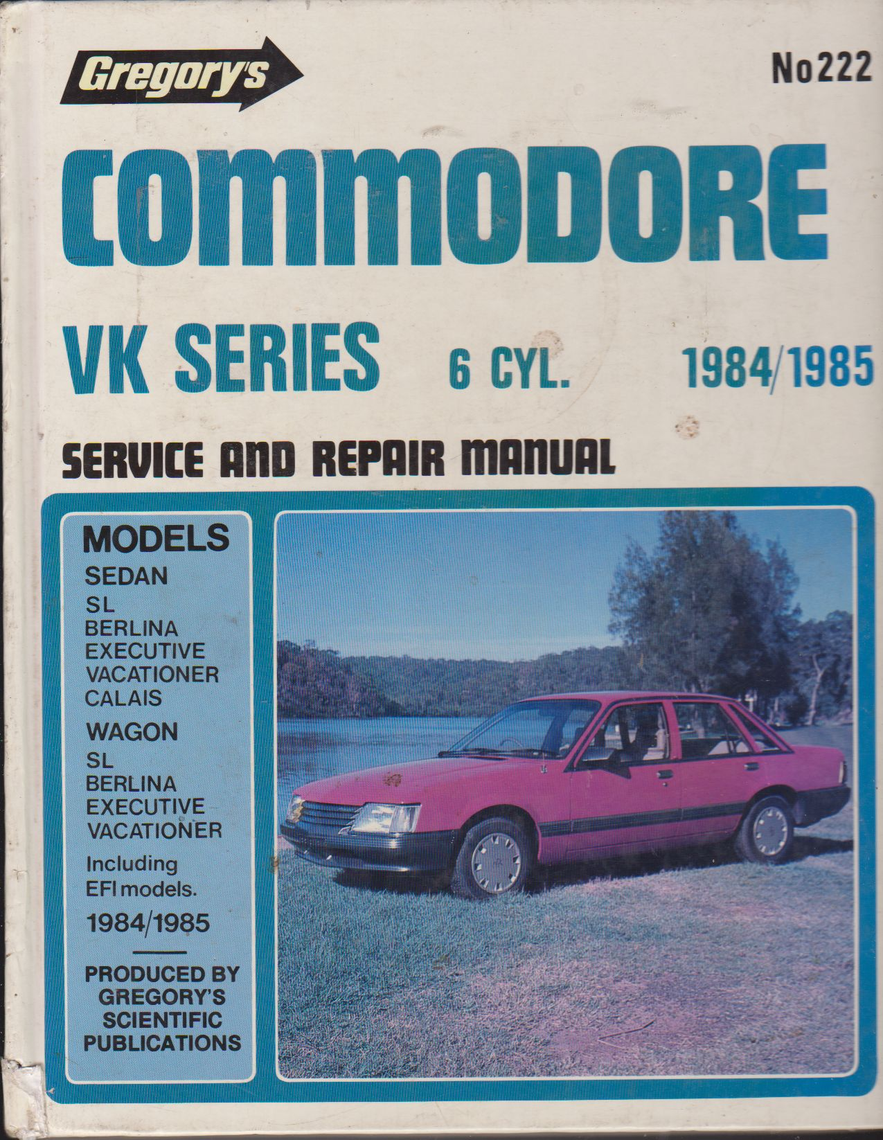 Commodore 1984-85 6CLY. Service And Repair Manual A Gregorys Pub
