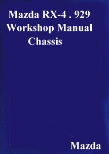 Mazda RX-4 929 1976 Chassis Supplement Shop Manual