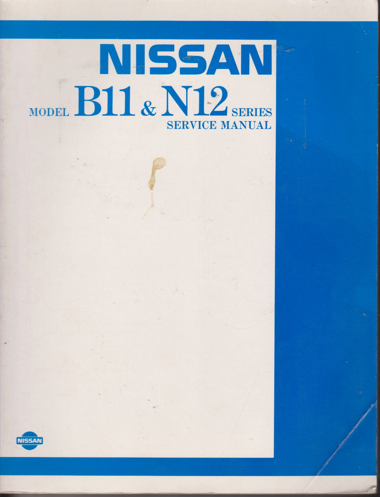 Nissan B11 & N12 Series, Factory Workshop Manual